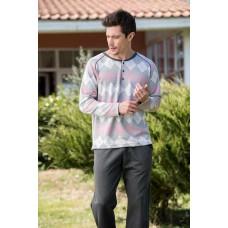 Double Single Jersey Interlock Men's Pajamas Set