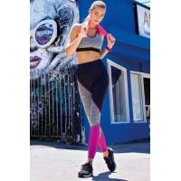 Black Gray Sport Leggings