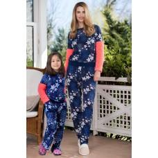 2-pack Viscose Fleece Girl's Pajamas Set