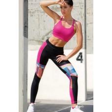 Patterned Black Sport Leggings