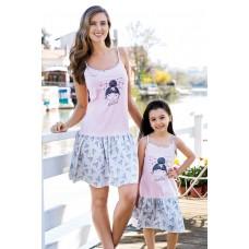 Girl Patterned Pajamas Set