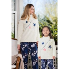 2-pack Viscose Fleece Women's Pajamas Set
