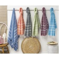 Turkish Cotton Cross Pattern Peshtemal Authentic Beach Towel