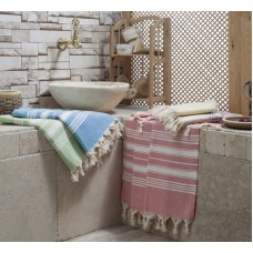 Turkish Cotton Herringbone Peshtemal Authentic Beach Towel