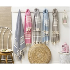 Turkish Cotton Wicker Pattern Peshtemal Authentic Beach Towel